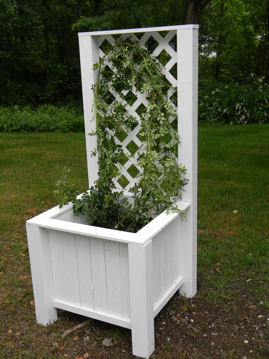 ana white planter box with trellis diy projects. Black Bedroom Furniture Sets. Home Design Ideas