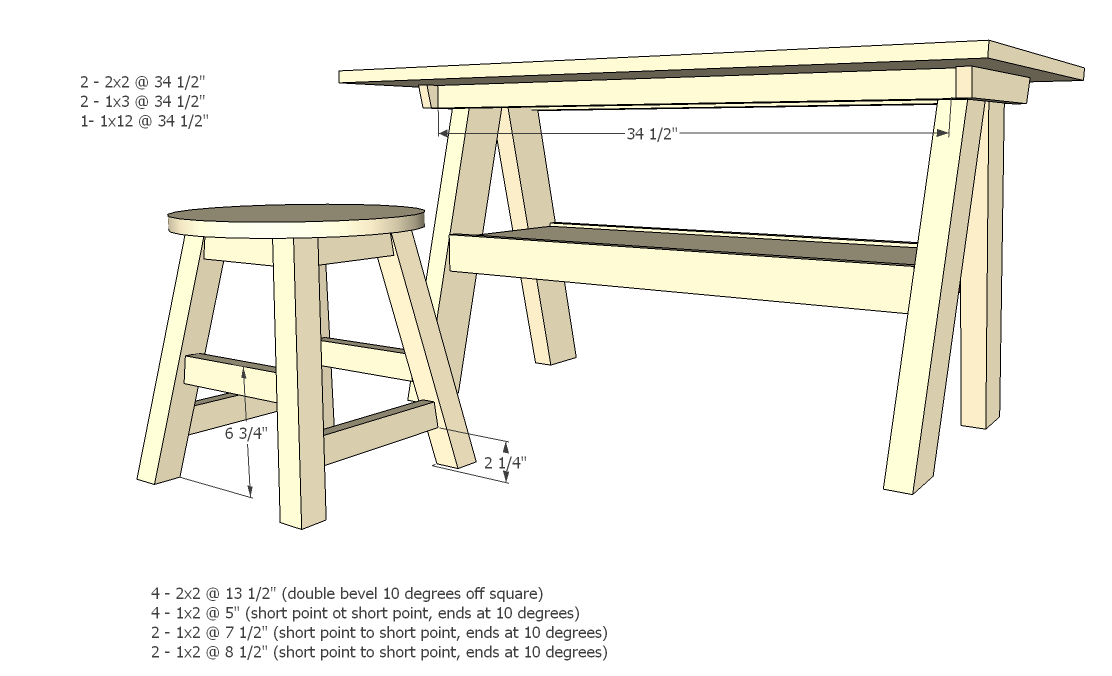 ... Play Table And Features A Large Work Surface And Large Shelf. Make Your  Own And Save Off Retail Costs. This Step By Step Do It Yourself Furniture  Plan ...