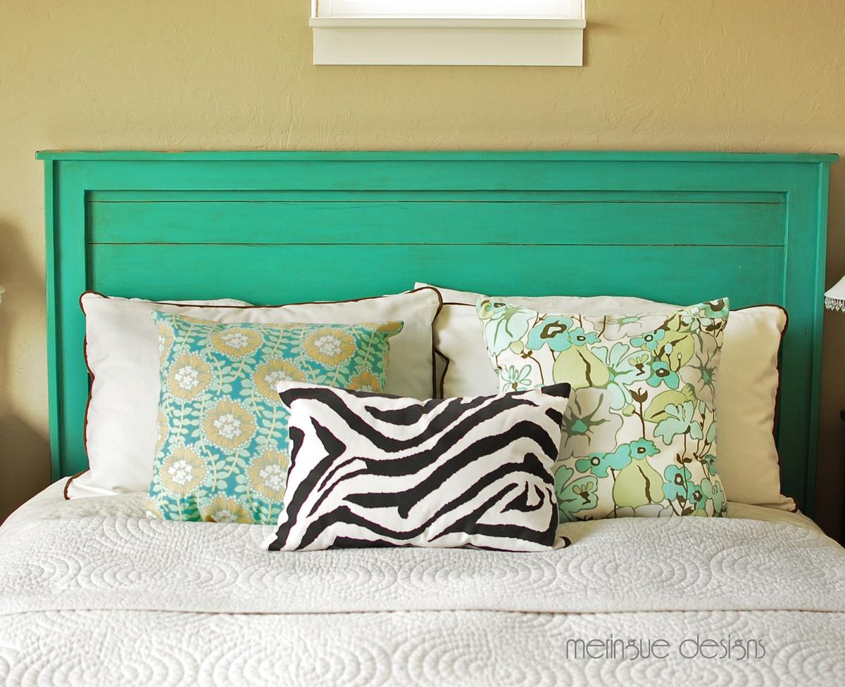 cabeceros de cama verde agua
