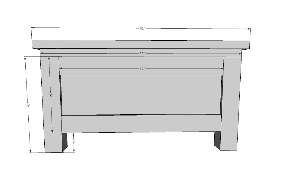 Cute Attach top xs through predrilled pocket holes in headboard panel with pocket hole screws Then attach x to top with or longer fasteners and