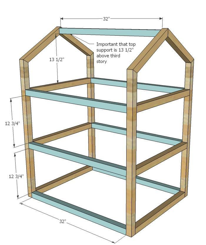 Easy to build doll house plans