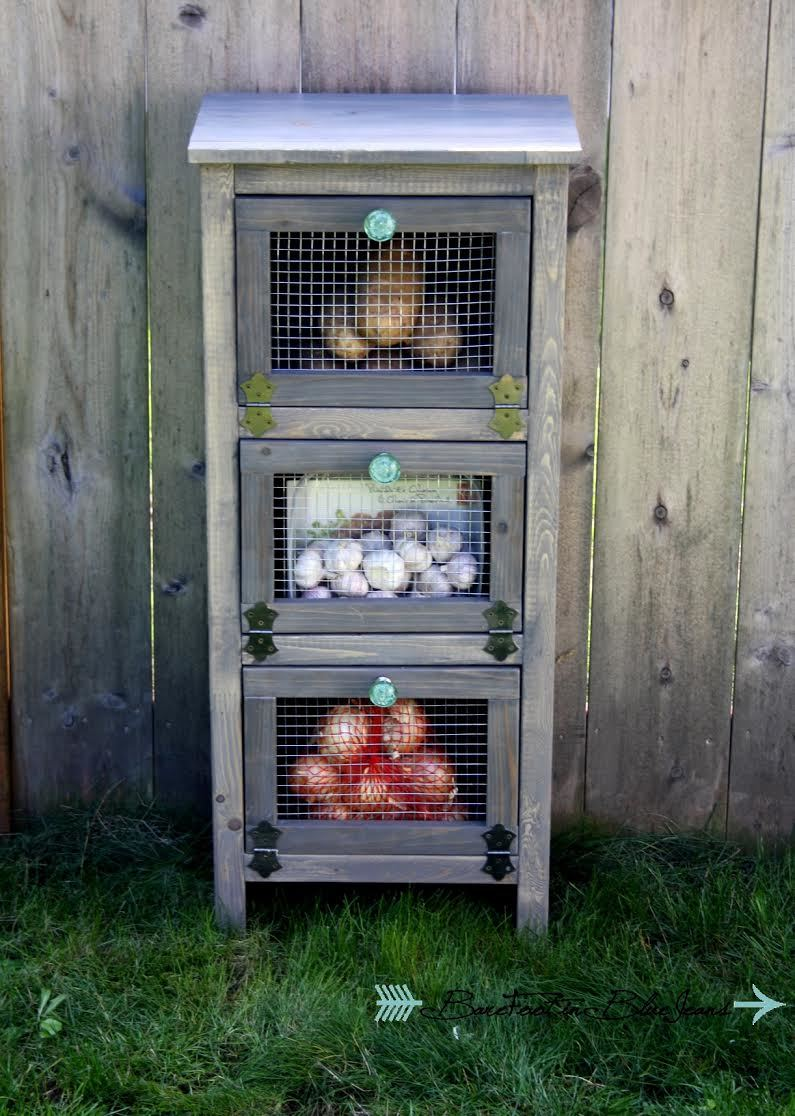 free plans how to build vegetable bin cupboards from anawhitecom