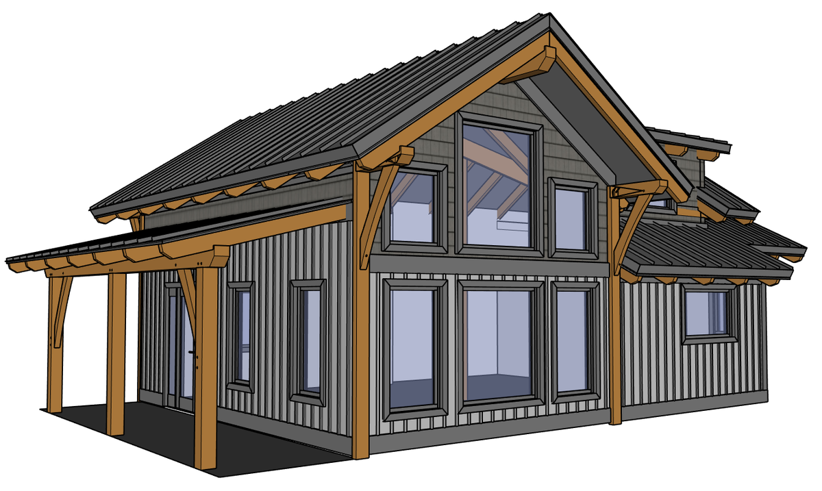 A frame lake cabin plans escortsea for Cabin playhouse plans