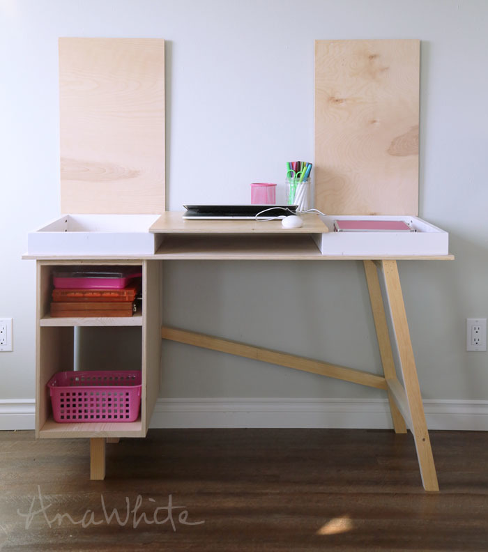 DIY GIANT HOME OFFICE DESK - YouTube