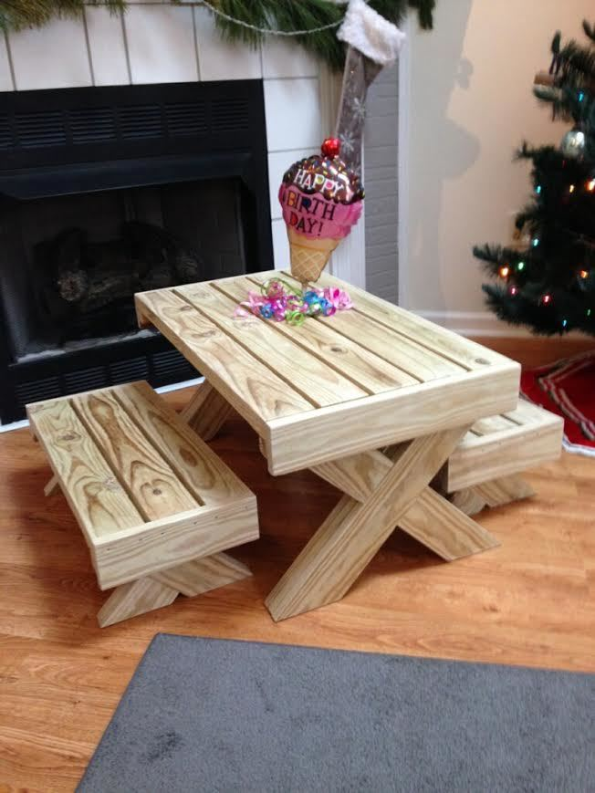 Ana White Birthday Gift Picnic Table Diy Projects