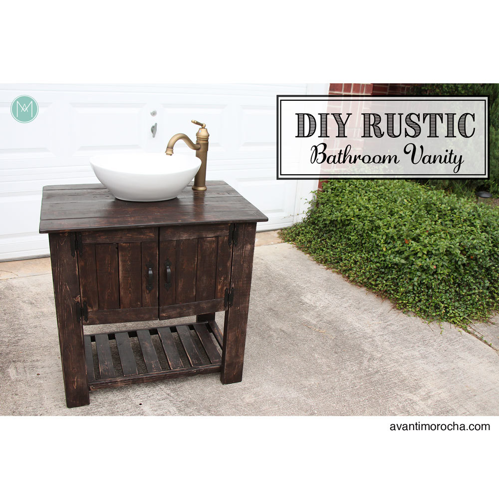 white diy rustic bathroom vanity diy projects