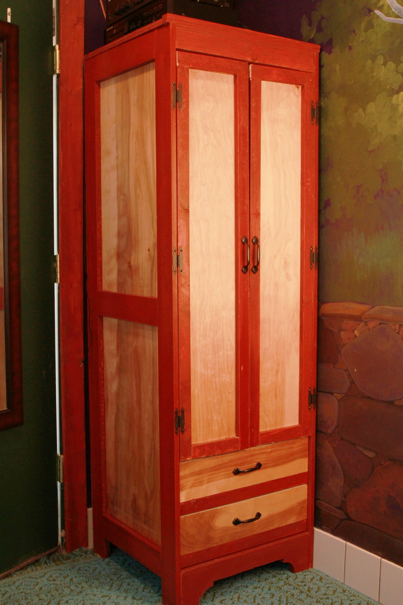 Tall Narrow Wardrobe For Tiny House