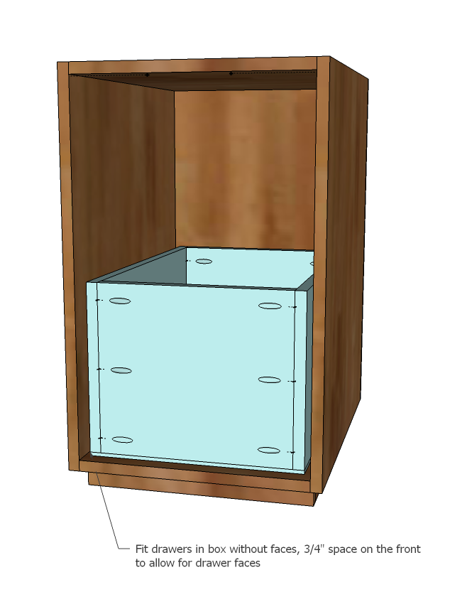 If You Place The Pocket Holes On The Outsides, The Drawer Face Will Cover  The Pocket Holes. Build Two Small Drawers And One Large Drawer.