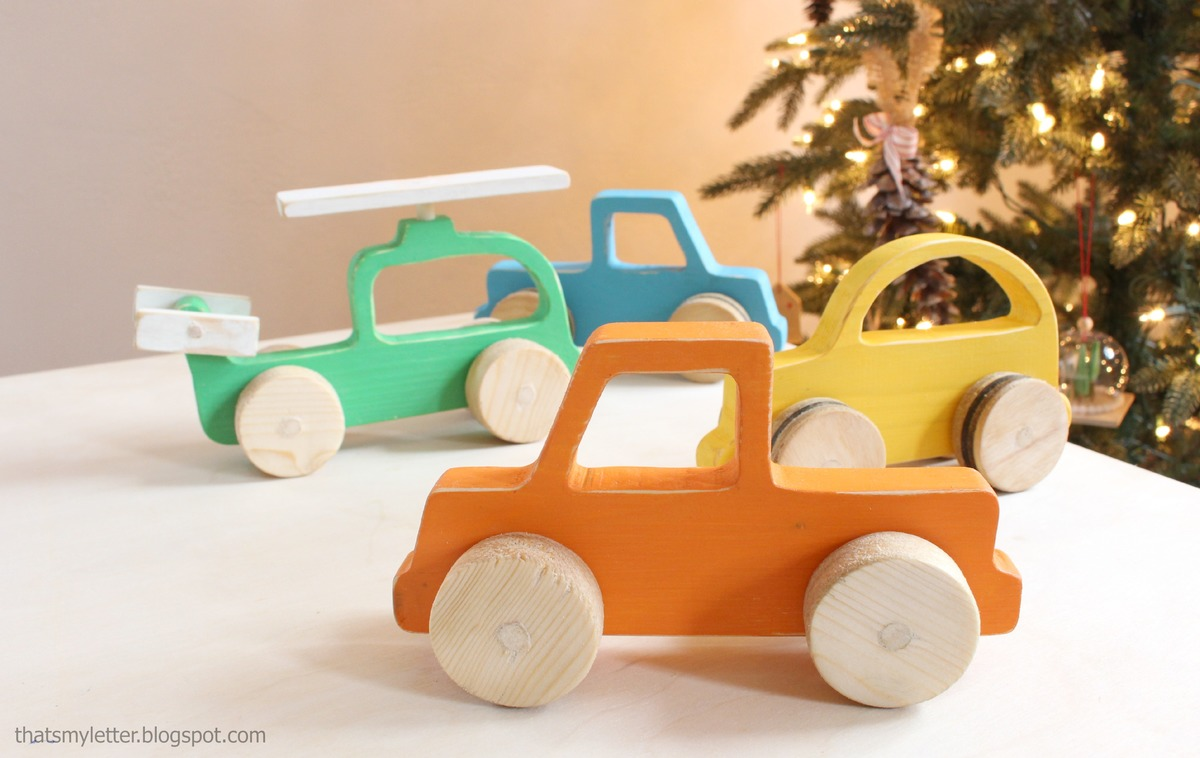 Wood Push Car, Truck And Helicopter Toys - DIY