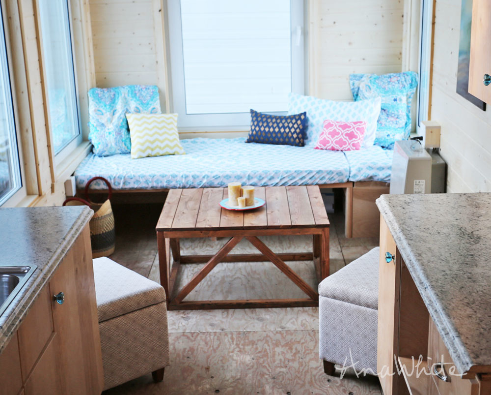 ana white | coffee table converts to dining table from wild rose
