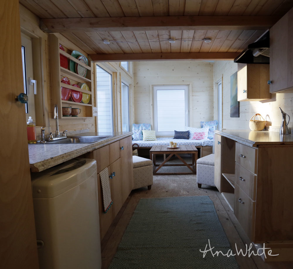 Swell The Wild Rose 24 Foot Tiny House Photo Tour Ana White Largest Home Design Picture Inspirations Pitcheantrous