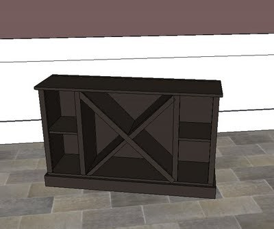 Big X Wine Cabinet Base
