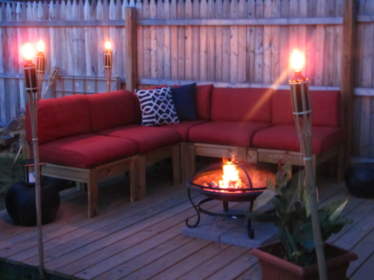 Ana White Simple Modern Outdoor Sectional Diy Projects