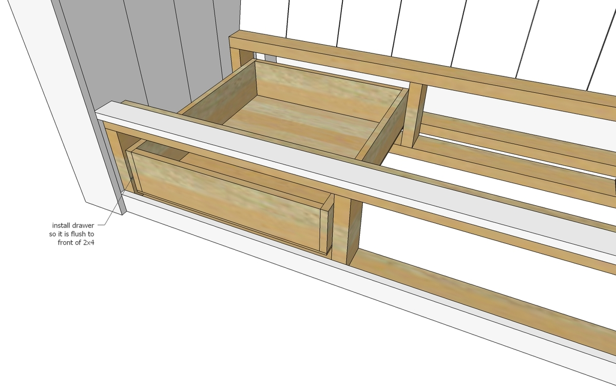 Build Drawers To Fit Openings.