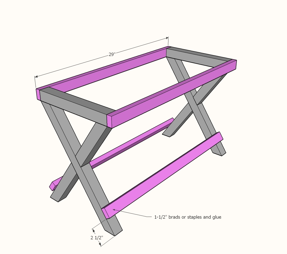 Ana White Upgraded Luggage Rack Or Suitcase Stand