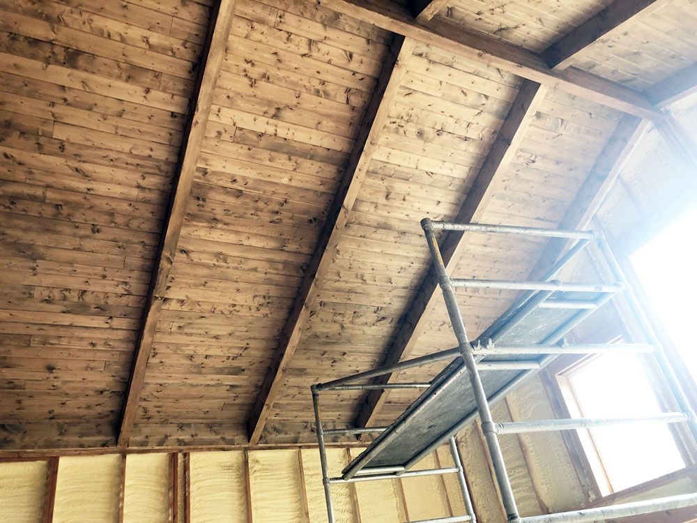 building a wood ceiling