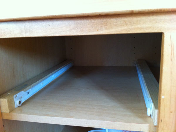 Ana White | Wood Pullout Cabinet Drawer Organizer - DIY Projects