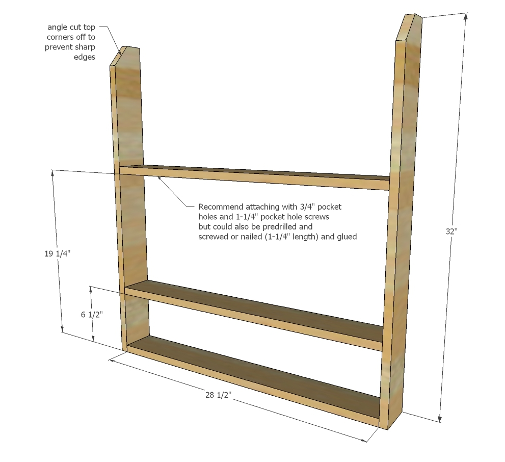 5 - 1x4 @ 28-1/2  - rails and back supports  sc 1 st  Ana White & Ana White | Wooden Plate Rack Plans - DIY Projects