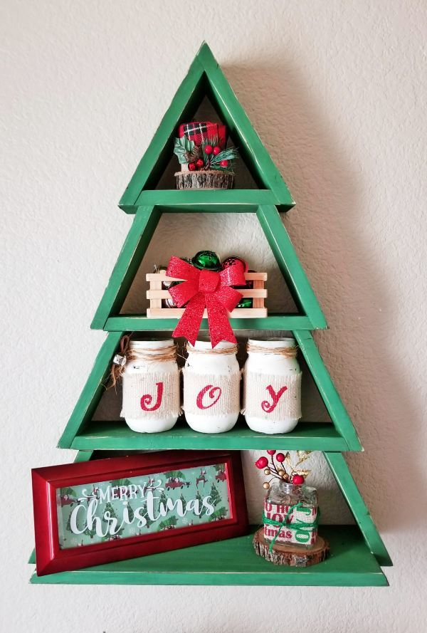 Ana White Wooden Christmas Tree Shelf DIY Projects