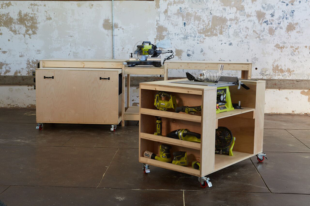 Ana white ultimate roll away workbench system for ryobi blogger free plans for ultimate workbench roll away carts with built in tools save space and maximize functionality and storage designed and built by ana white keyboard keysfo Images