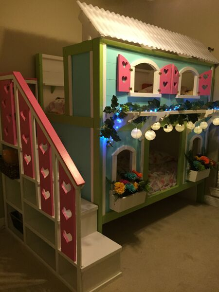 Ana White | Sweet Pea Bunk Bed for Viktoria - DIY Projects