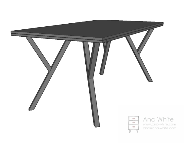 A Modern Style Table, Featuring A Unique Y Leg Design And Extra Support In  The Center.